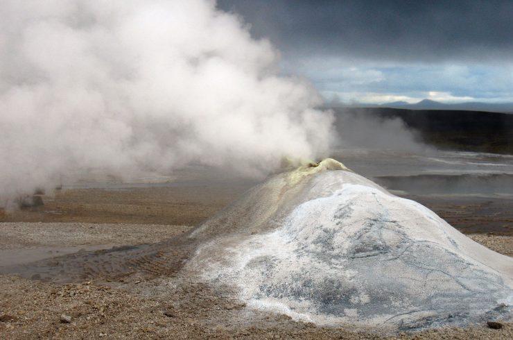 Fumarole in Hveravellir im isländischen Hochland