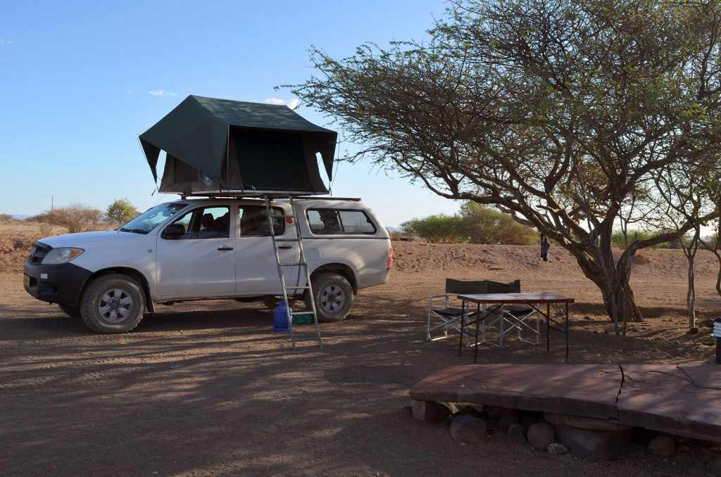 Camping in Namibia mit Dachzelt