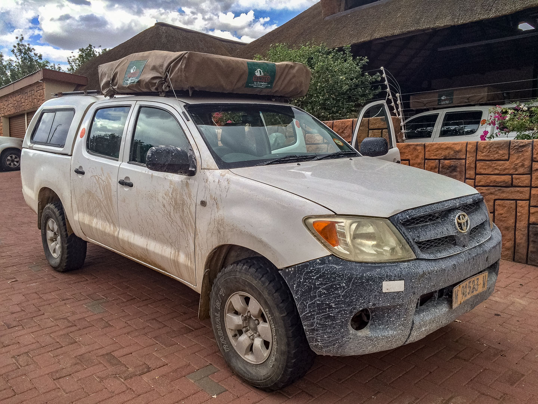 Toyota Hilux mit Dachzelt, Namibia