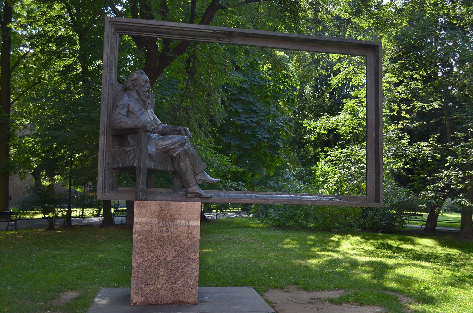 Statue für den polnischen Maler Jan Matejko.