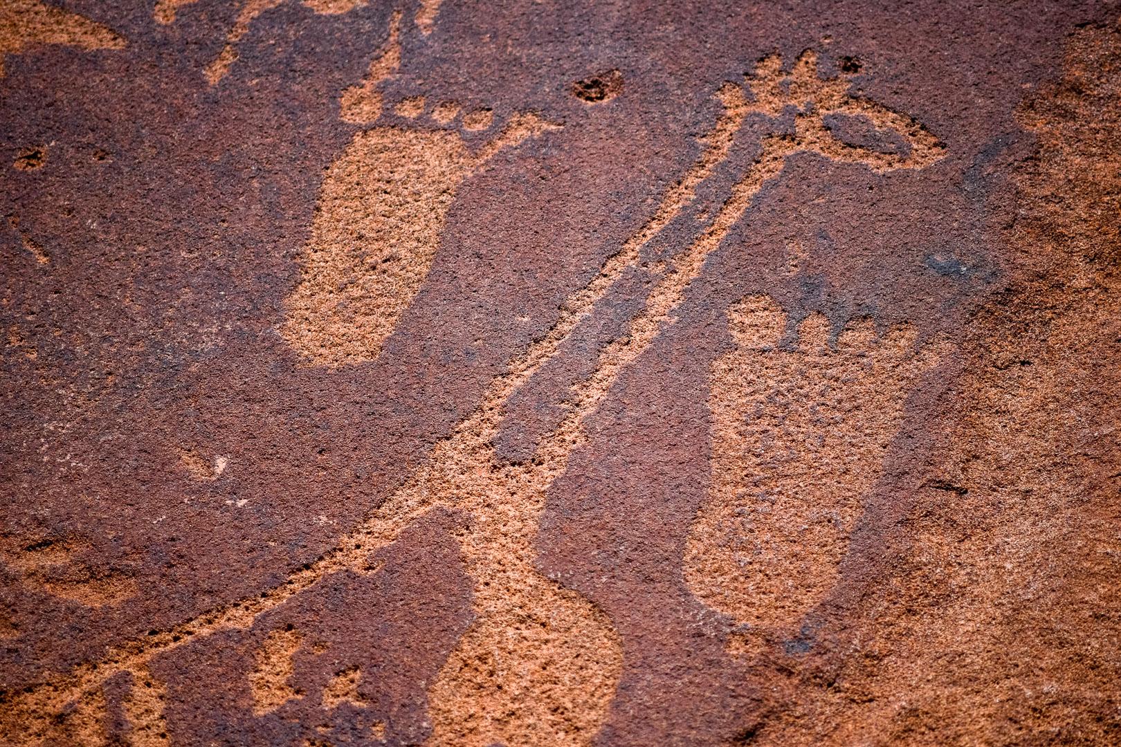 Twyfelfontein Fußabdrücke