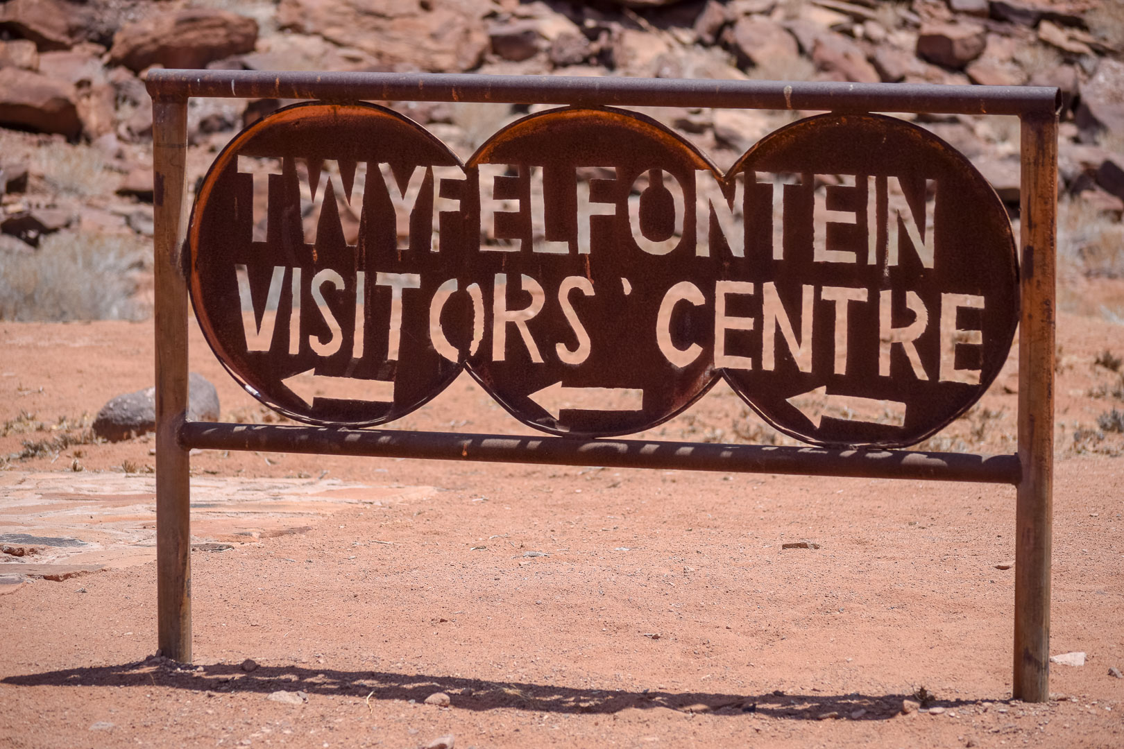 Twyfelfontein Schild Visitors Center