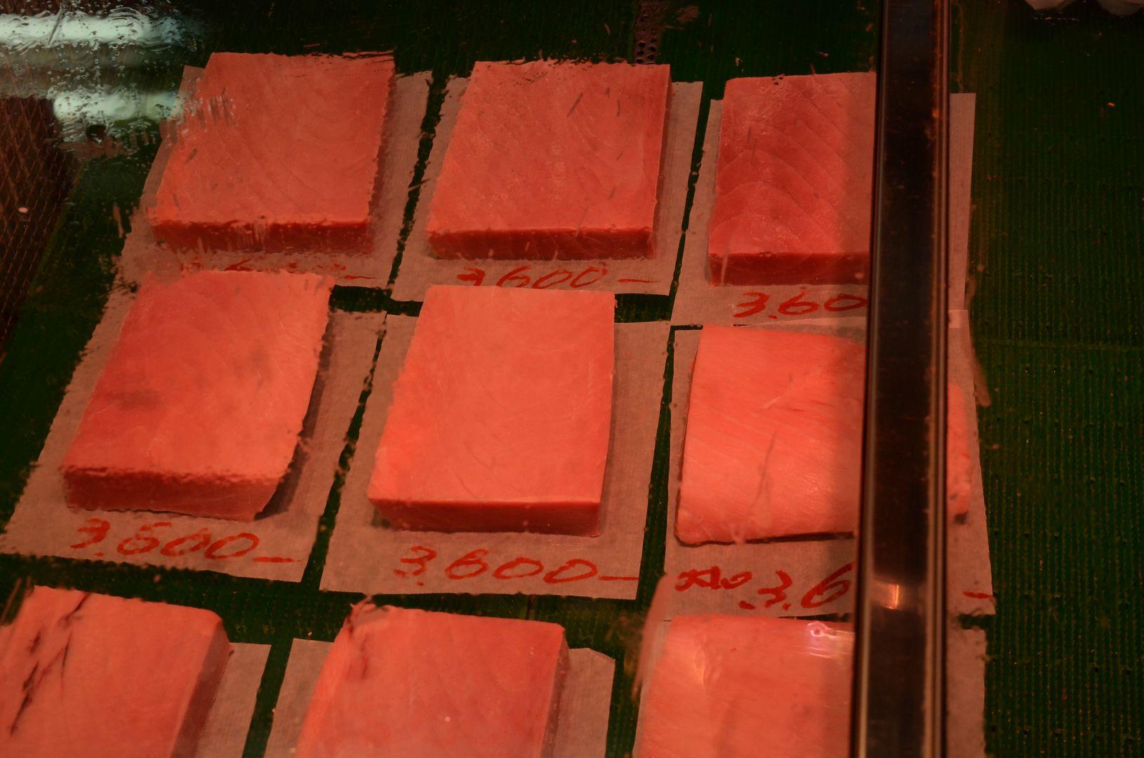 Thunfisch in Handgroßen Blöcken für ca. 31 €/Stück