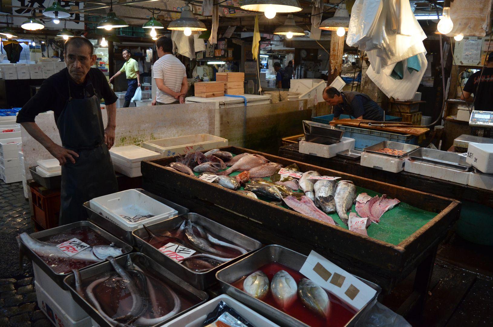 Verkauf auf dem Tsukiji Markt, Tokyo