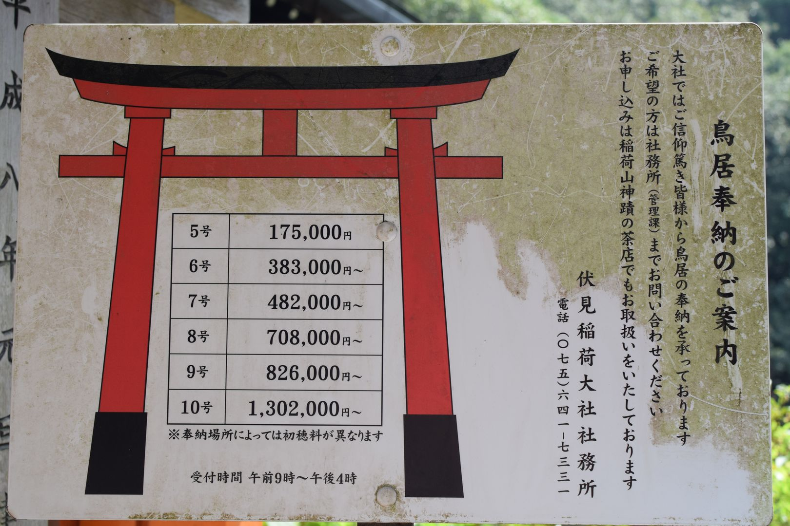 price of Torii at Fushimi Inari Taisha, Kyoto