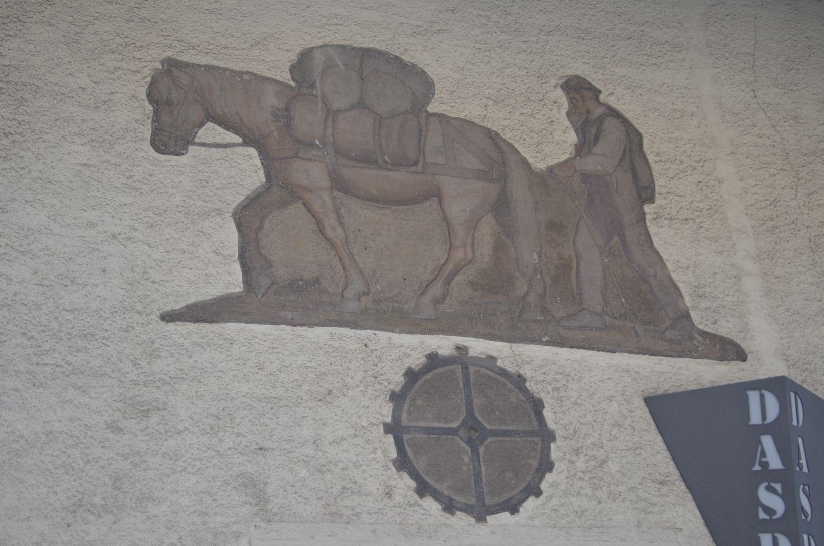 Meran Südtirol alte Wandmalerei