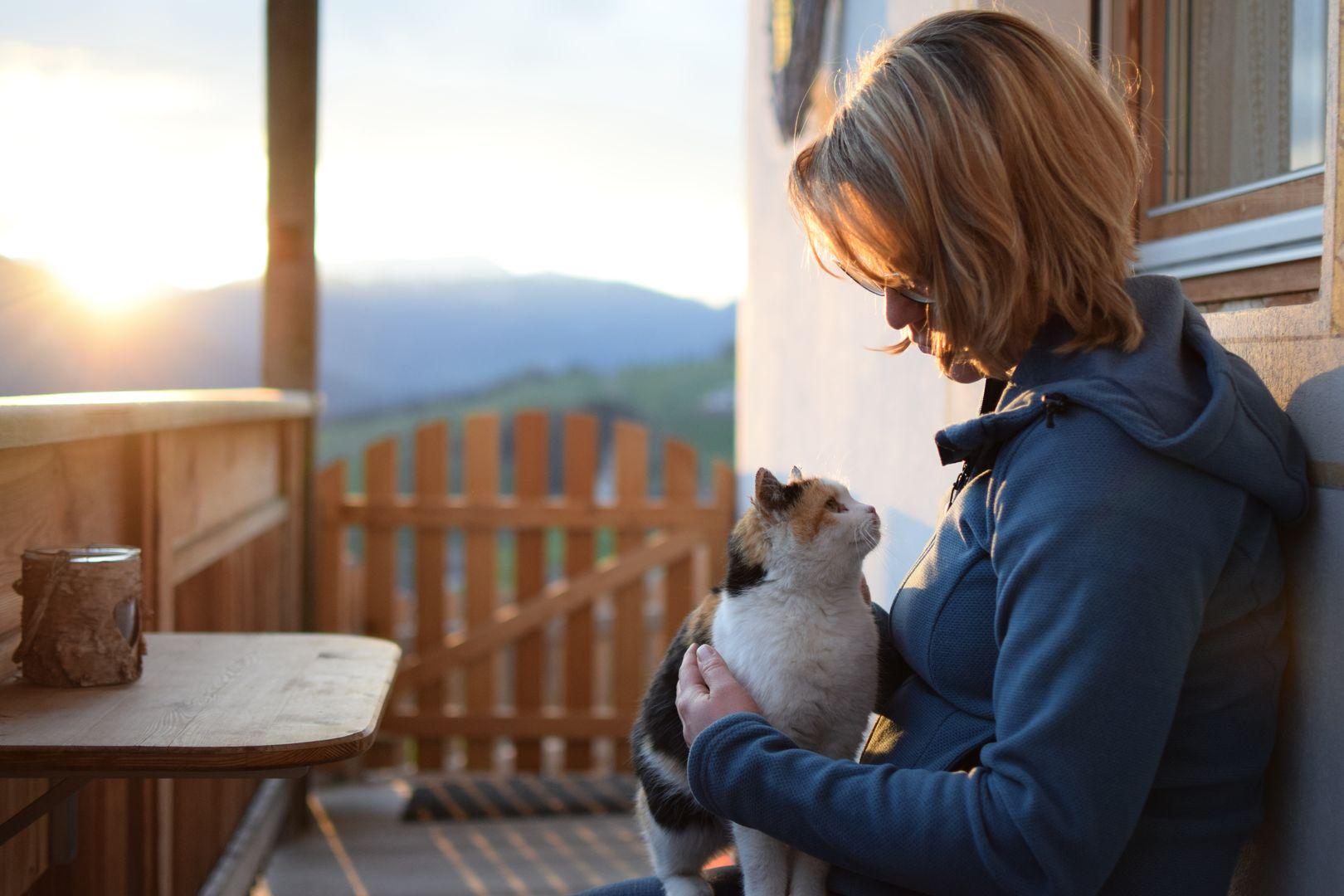 Auf der Veranda ist man nie alleine