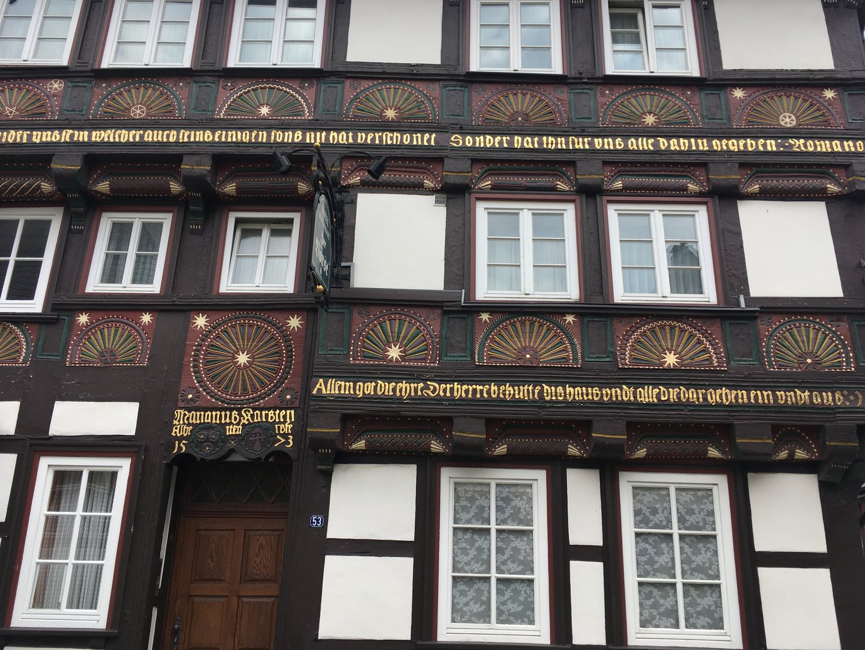 Fachwerkfassade in Goslar