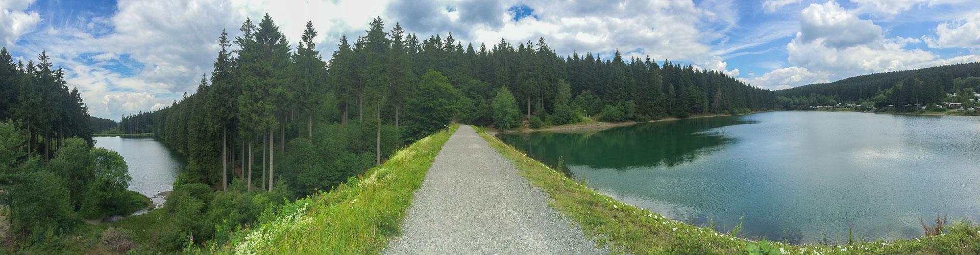 Oberharzer Wasserwirtschaft Panoramaaufnahme Auerhahnteiche