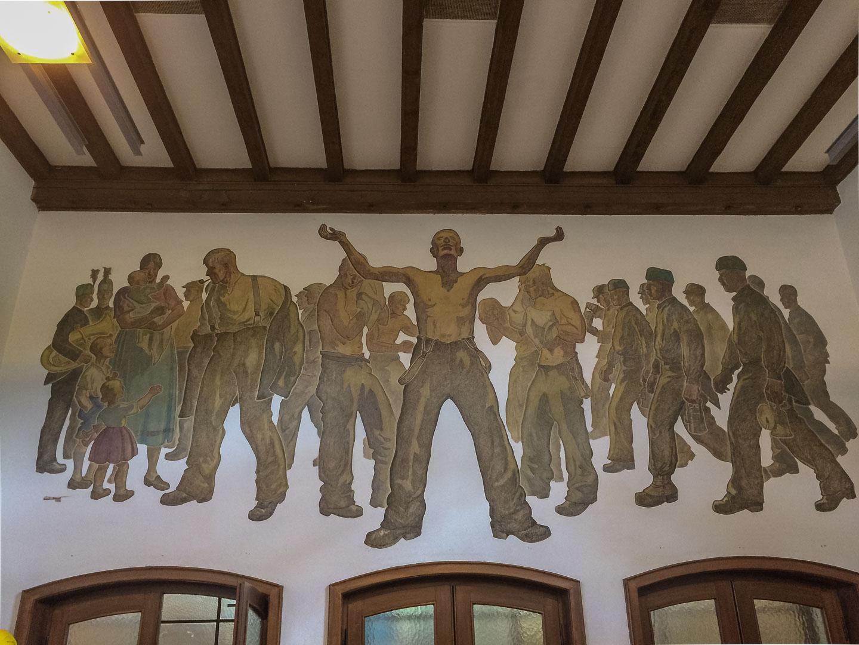 Wandgemälde Lohnhalle Bergwerk Rammelsberg