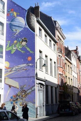 Comic Rundgang in Brüssel Yoko Tsuno