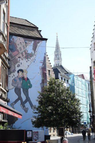 Comic Rundgang in Brüssel Jonas Valentin