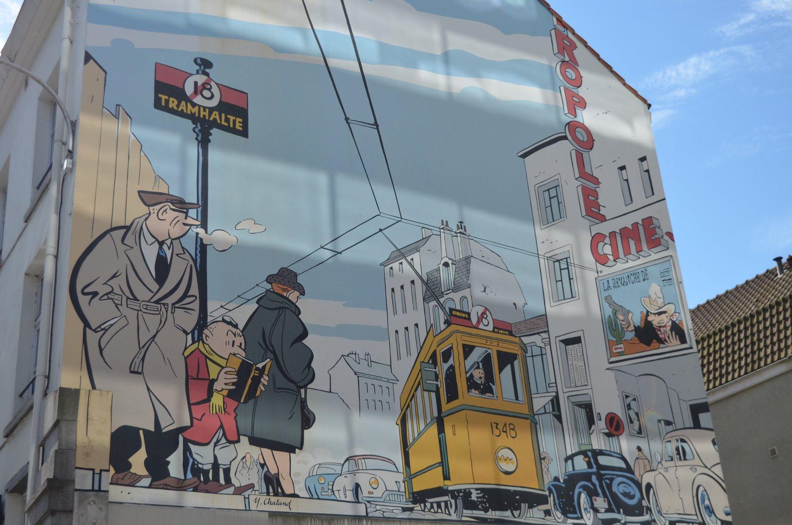 Comic Rundgang in Brüssel Kleiner Albert