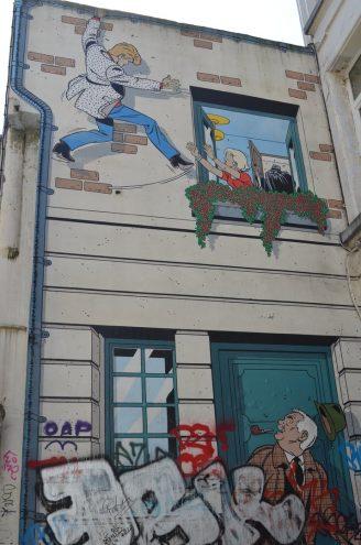 Comic Rundgang in Brüssel Rick Master