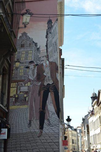 Comic Rundgang in Brüssel Victor Sackville
