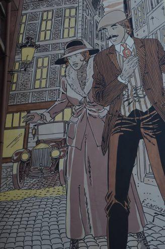 Comic Rundgang in Brüssel Inspektor Victor Sackville