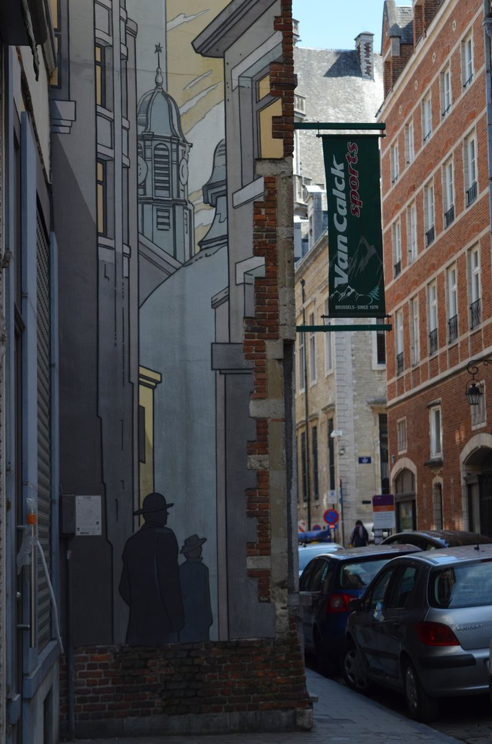 Comic Rundgang in Brüssel Durchgang