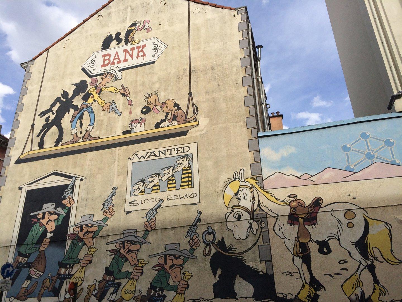Comic Rundgang Brüssel Lucky Luke