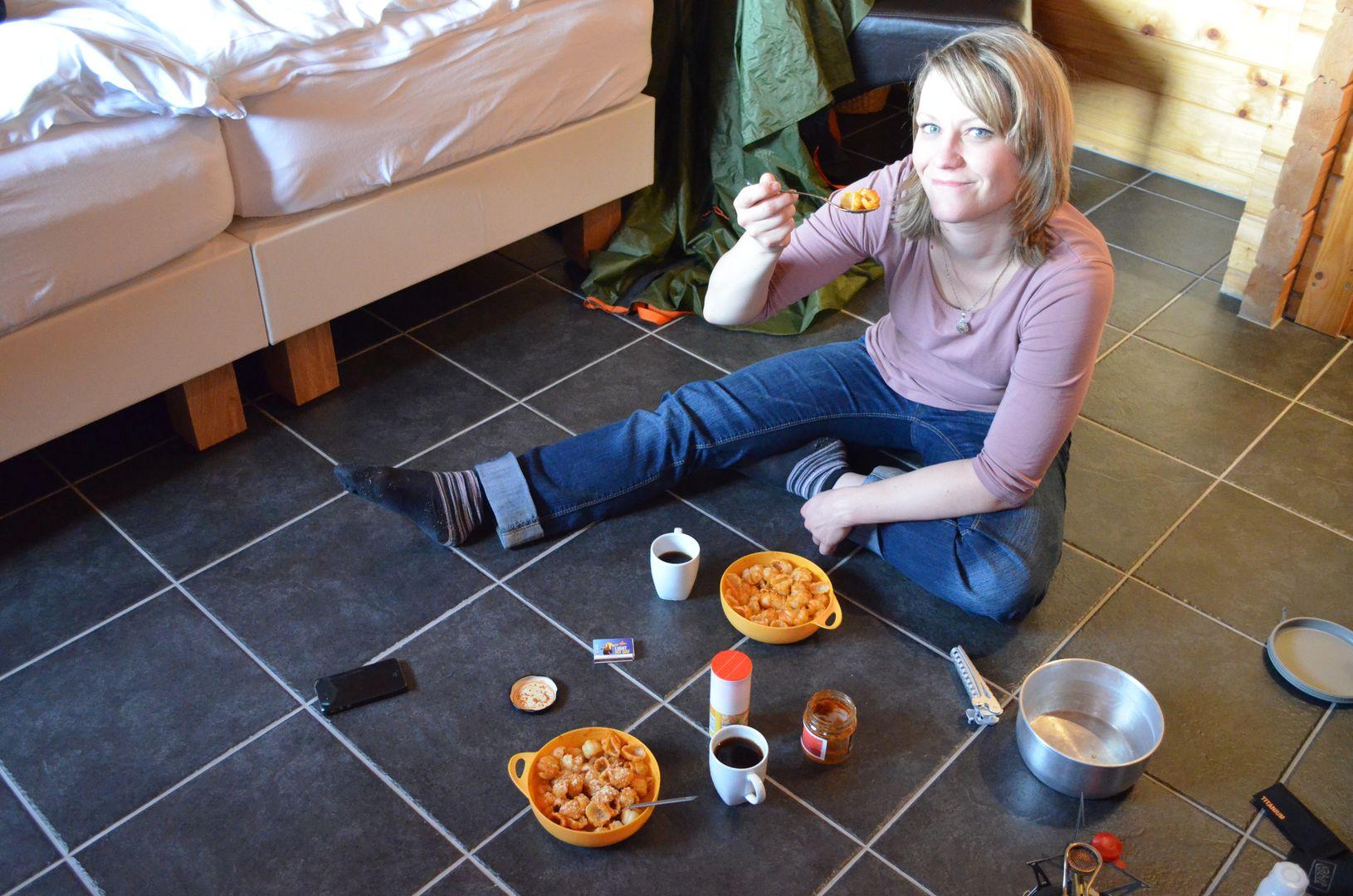 Island essen in Unterkunft