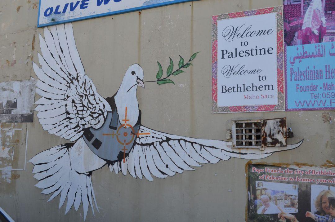 Friedenstaube von Banksy in Bethlehem