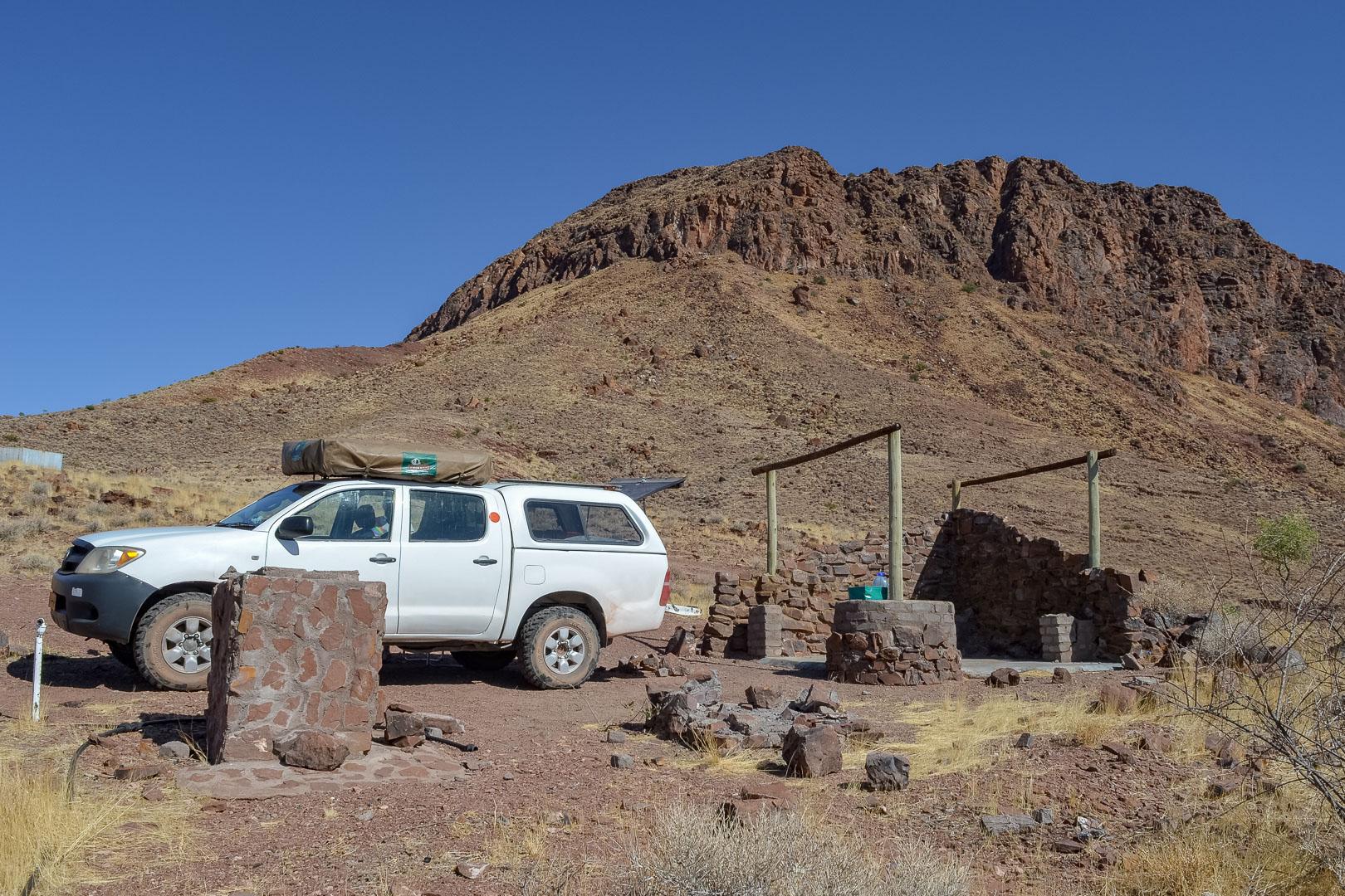 Namibia Camping am Burkkaros Krater