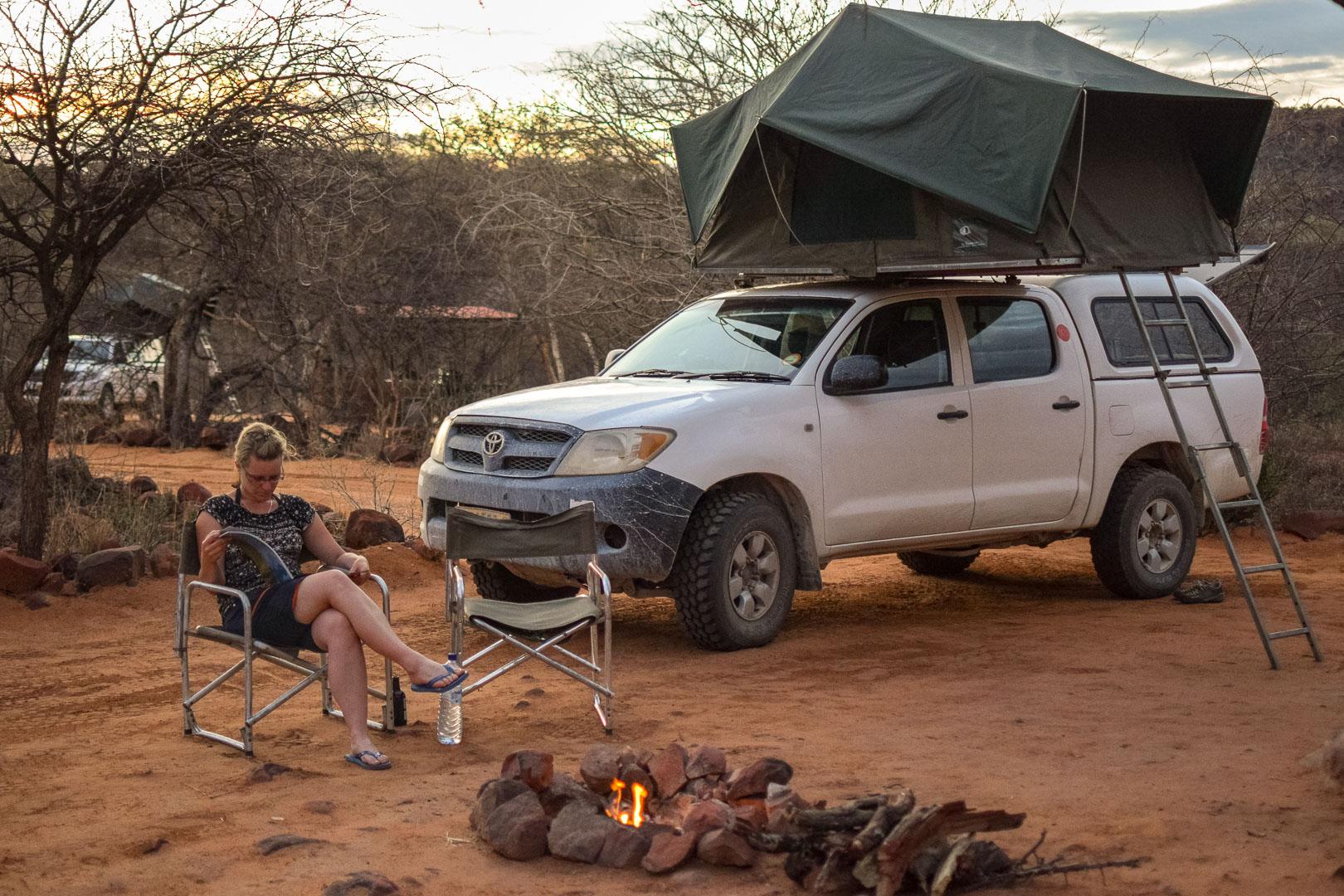 Camping Waterberg Plateau Namibia