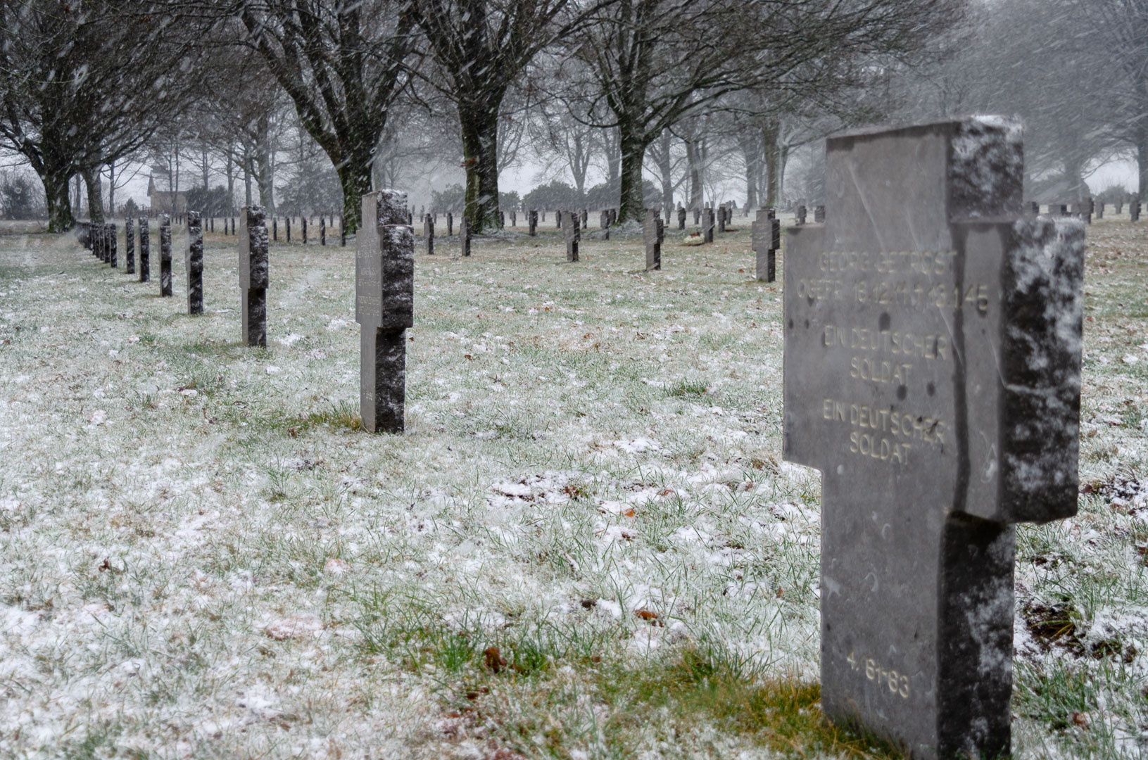 Ardennenschlacht-Friedhof-Bastogne