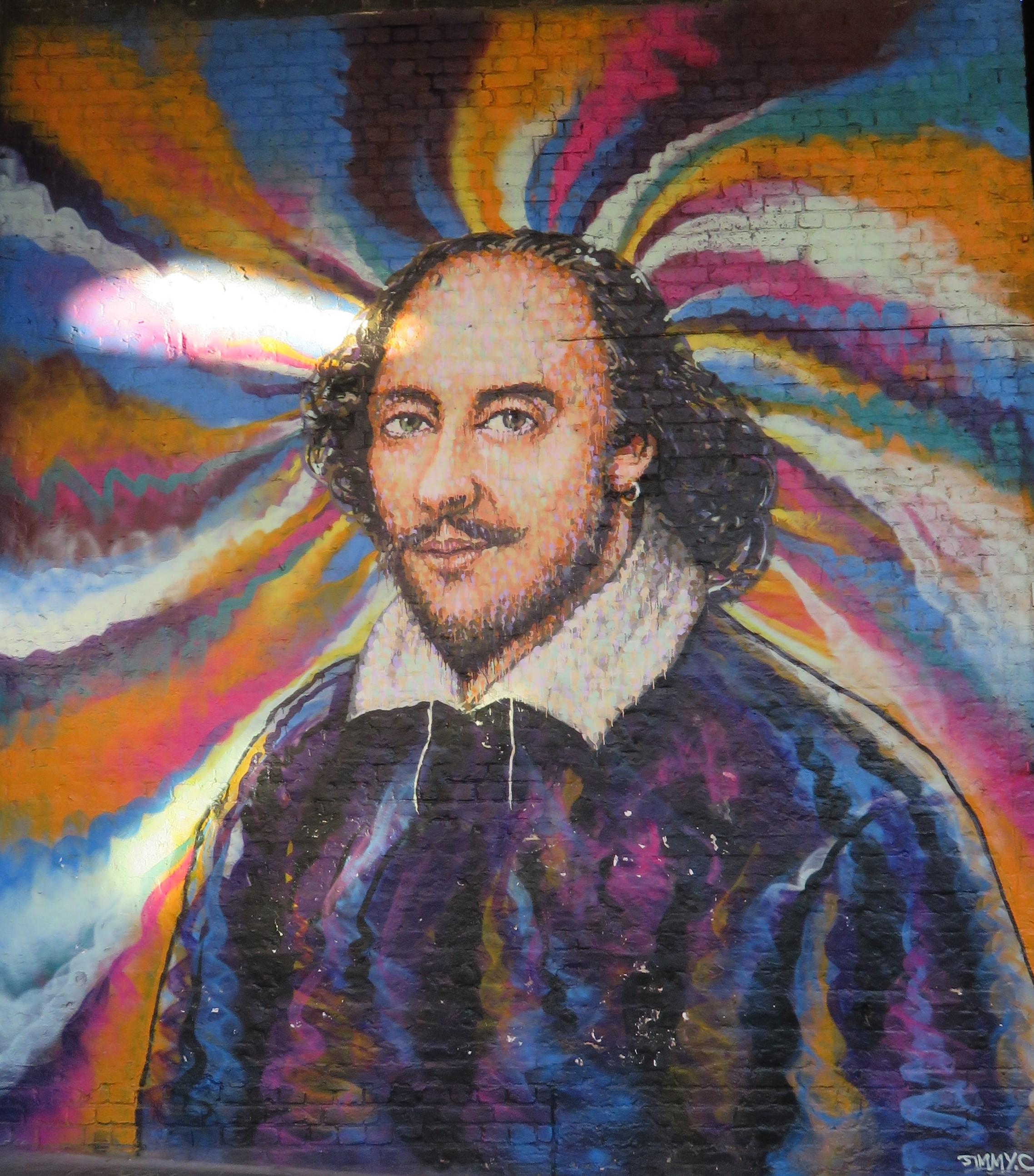 Ausgegraben-Streetart-Shakespeare-London